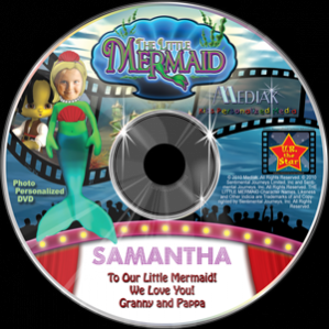 Personalized Little Mermaid Photo DVD