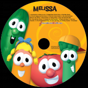 Sing along VeggieTales CD Personalized With Child's Name